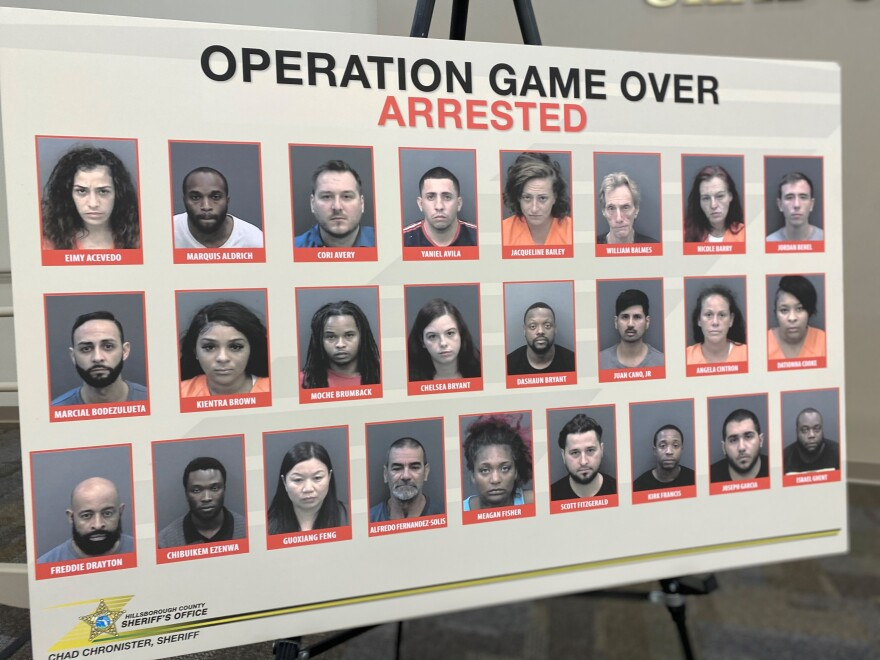 Poster shows arrests during Operation Game Over