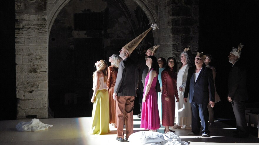 Dutch actors perform during a dress rehearsal of the show <em>HUIS</em> at the 68th Avignon Theater Festival in France. The festival has been international since 1966 and today French performances make up only 20 percent of all acts.