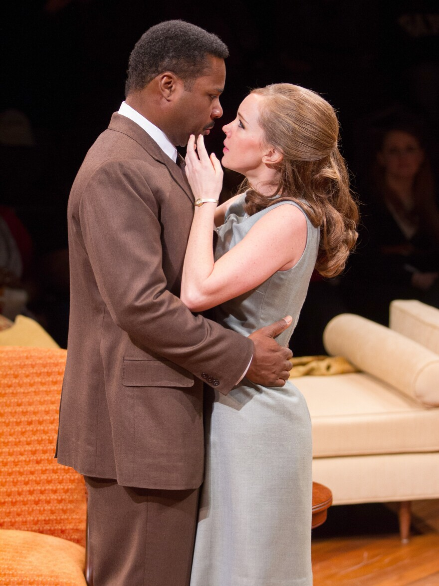 Malcolm-Jamal Warner plays Dr. John Prentice and Bethany Anne Lind plays Joanna Drayton in a new production of <em>Guess Who's Coming to Dinner</em>. Warner says the 1967 film had to treat the subject matter lightly, but that this staging delves deeper into the characters' emotions.