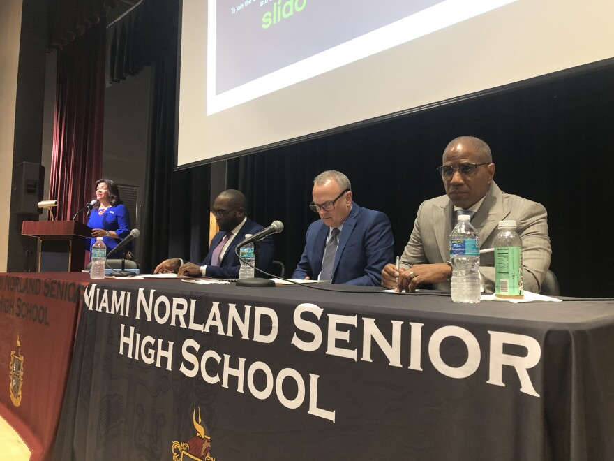 education_town_hall_steve_gallon_richard_corcoran_shevrin_jones_miami_norland_senior_high_1.jpg