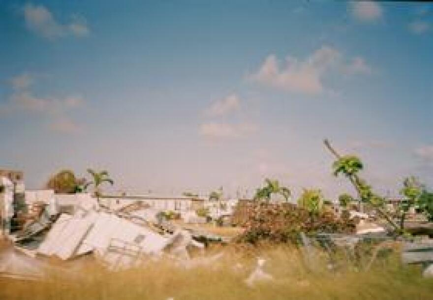 Homes destroyed in Hurricane Andrew.