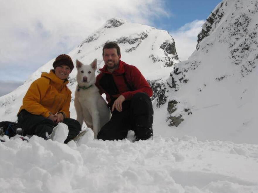 Laura Ogden, Jack Hannan, and Dr. Jones the dog.