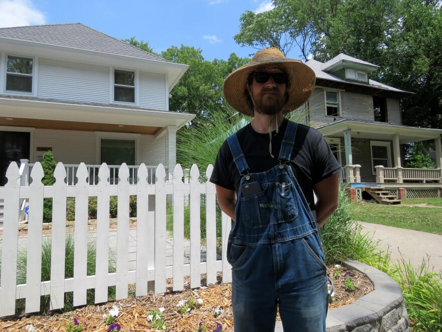 Neil Rudisill grows dozens of crops and raises chickens on a small plot in Kansas City's Ivanhoe neighborhood.