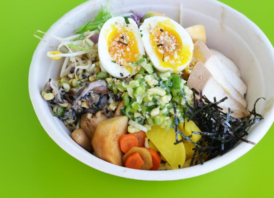 The cold ramen bowl at Kounter Kulture, 3825 Watson Road.