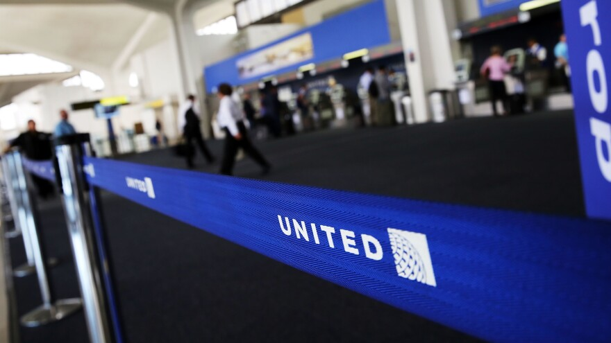 The United Airlines terminal is viewed at Newark Liberty Airport on July 8, 2015 in Newark, N.J. The airline was criticized on Sunday for enforcing its buddy pass dress code, barring from the plane two girls in their early teens who were wearing leggings.