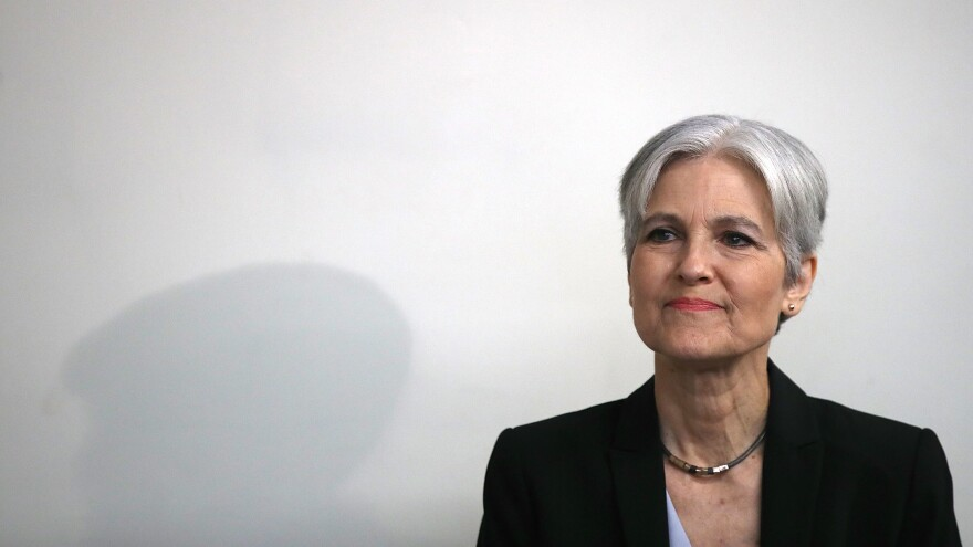 Jill Stein, at a press conference at the National Press Club in Washington, D.C., in August.