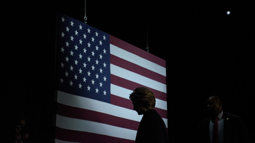 Democratic presidential nominee Hillary Clinton spoke to supporters at the Civic Center Auditorium in San Francisco Thursday.