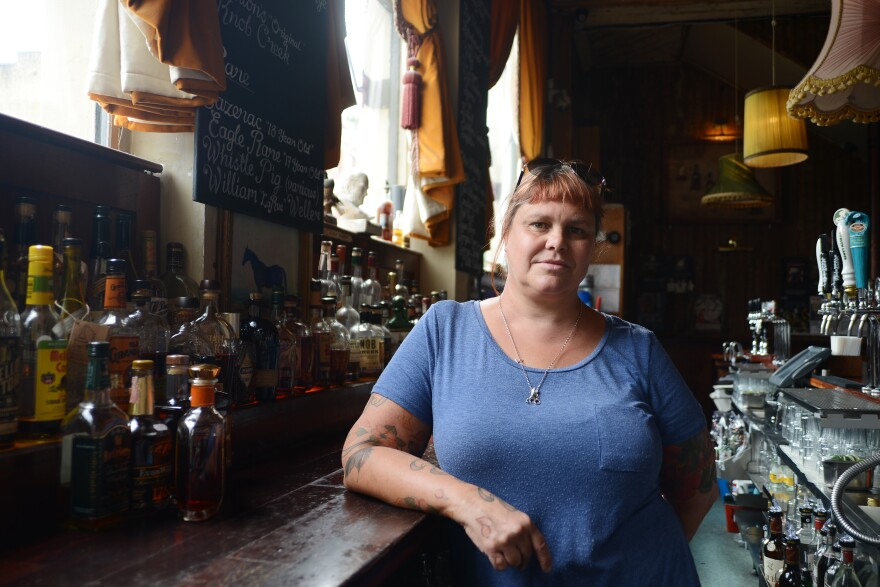"Stacey Thomas, owner of the Bourbon Bar ""The Lexington,"" says new tariffs on whiskey will hurt her business. ""Customers that maybe would have tried bourbon will probably just go for a vodka or a gin or a rum,"" she says."