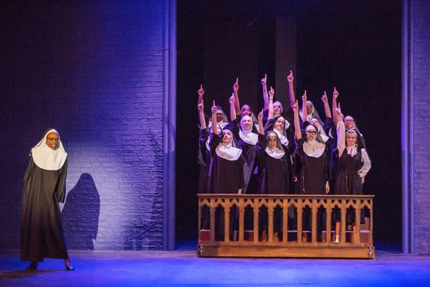 "Students perform ""Sister Act"" at Clayton High School."