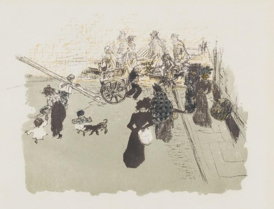 Pierre Bonnard's 1899 lithograph<em> Street Corner</em> from the portfolio <em>Some Aspects of Life in Paris</em>