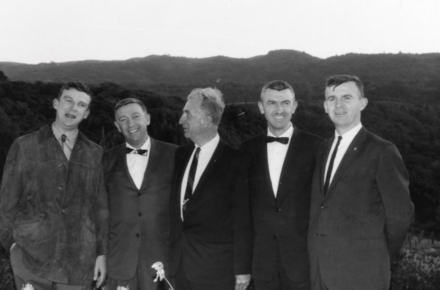 The Lees (from left): Hewey, Dick, Russell, Peter and Phil. All the Lee children, including a sister not shown, became doctors.