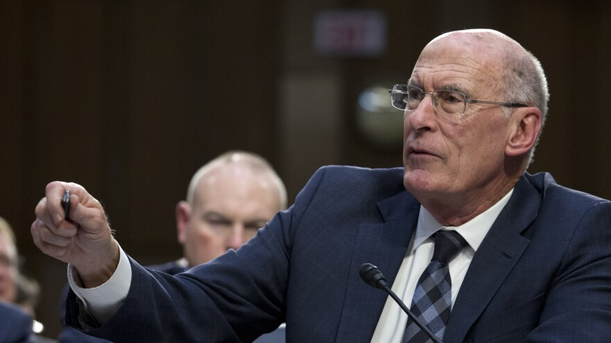 Director of National Intelligence Dan Coats testifies before the Senate Intelligence Committee in January. Coats often operated behind the scenes, but when he spoke publicly, his assessments were often at odds with President Trump