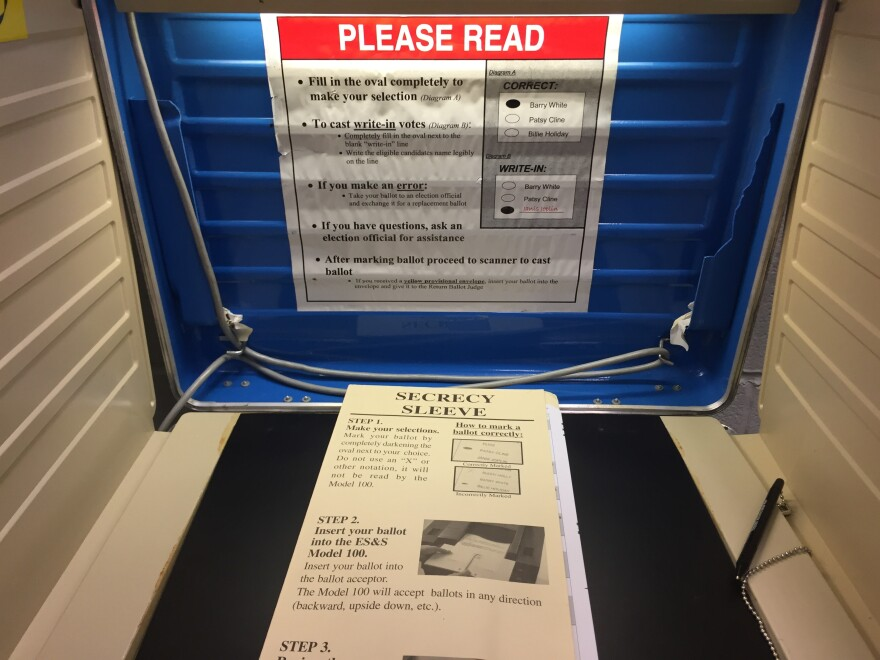 photo of voting booth