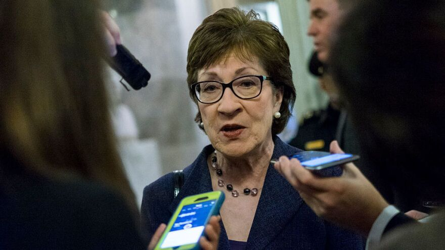 Sen. Susan Collins, R-Maine, announced Monday evening she will not vote for Republican presidential nominee Donald Trump.