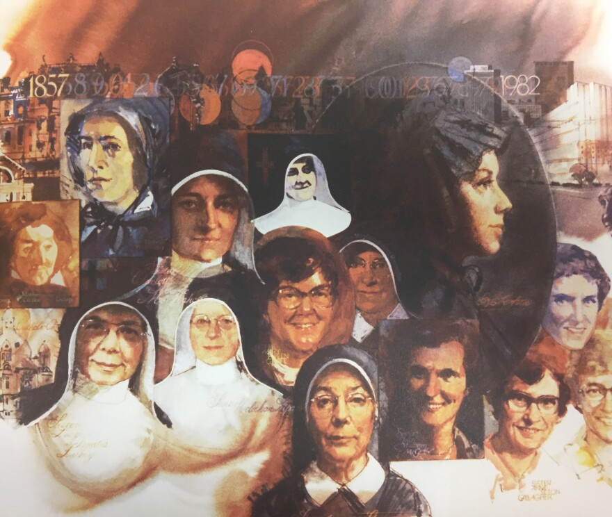 Artwork commissioned for the 50th anniversary of Good Samaritan Dayton commemorating the Sisters of Charity.