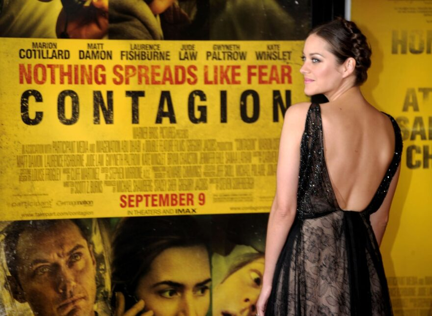 """Actress Marion Cotillard attends the """"Contagion"""" premiere at the Rose Theater, Jazz at Lincoln Center in New York City."""