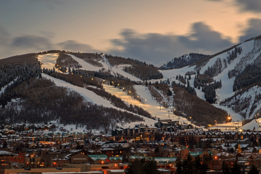Photo of Park City Mountain Resort and town.