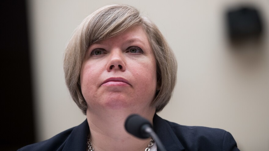 A U.S. Government Accountability Office report finds congressionally approved emergency humanitarian funds, meant to benefit asylum-seekers apprehended along the border with Mexico, instead was spent on things from dirt bikes to security camera systems. GAO Homeland Security and Justice Director Rebecca Gambler, shown here in 2017, oversaw the agency's investigation.