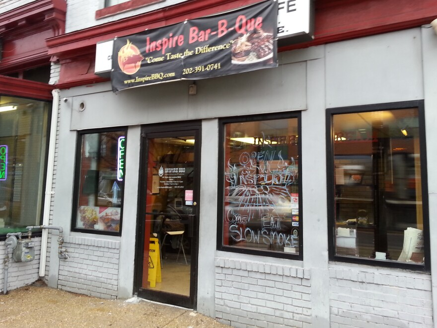 Inspire BBQ is on H Street, an area damaged in the 1968 riots following the assassination of the Rev. Martin Luther King.