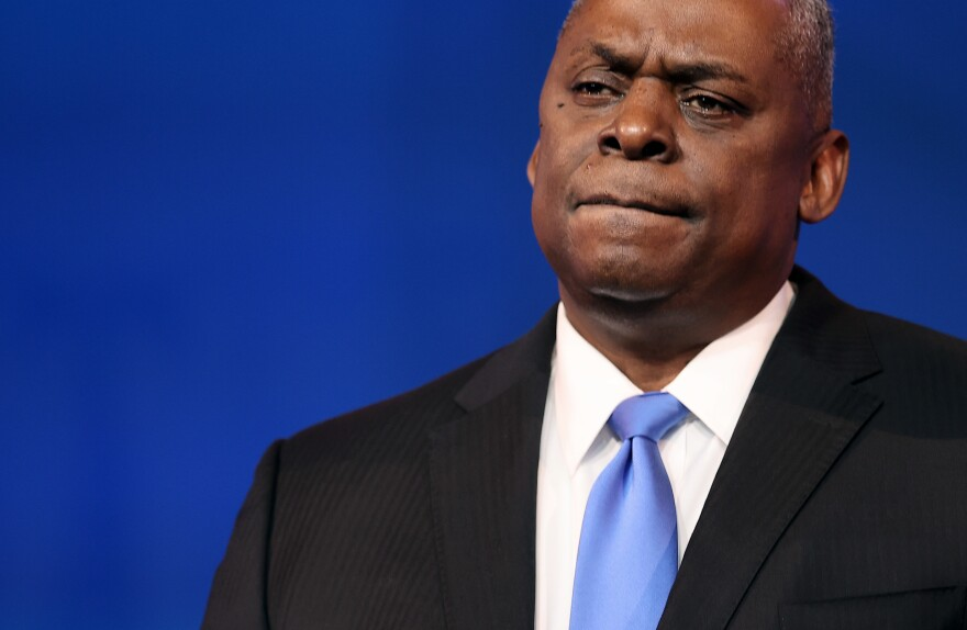Retired U.S. Army General Lloyd Austin is seen speaking on December 9 after being nominated to be Secretary of the Department of Defense by President-elect Joe Biden.