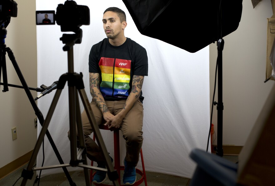 Brandon Reid takes part in a video project that aims to deliver messages of support and solidarity to the LGBT community in the wake of this past weekend's Orlando shooting.
