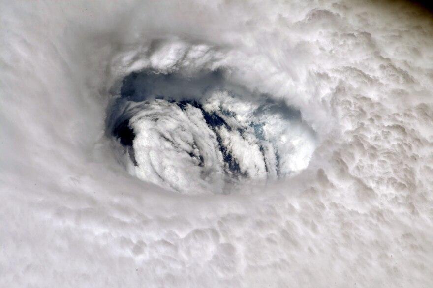 The eye of Hurricane Dorian