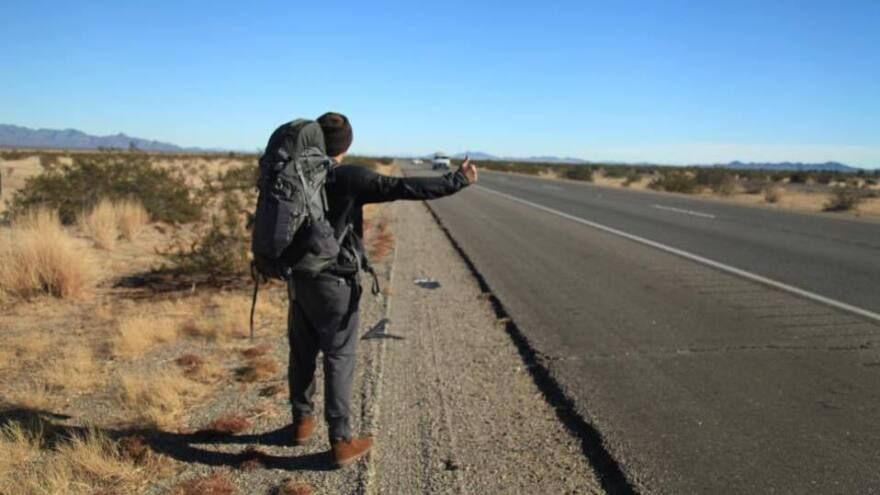 Hoang-Chau Nguyen hitchhikes all across America and uses social media to document his adventures.