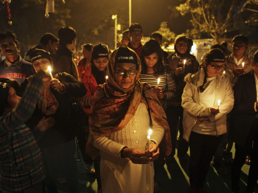 """Indians participated in a candlelight vigil last month to mark the anniversary of the death of a young woman who was gang raped and murdered in New Delhi. Indian media dubbed the woman """"Nirbhaya,"""" or fearless. Now, after other high-profile rapes in the country, India has unveiled a handgun for women."""