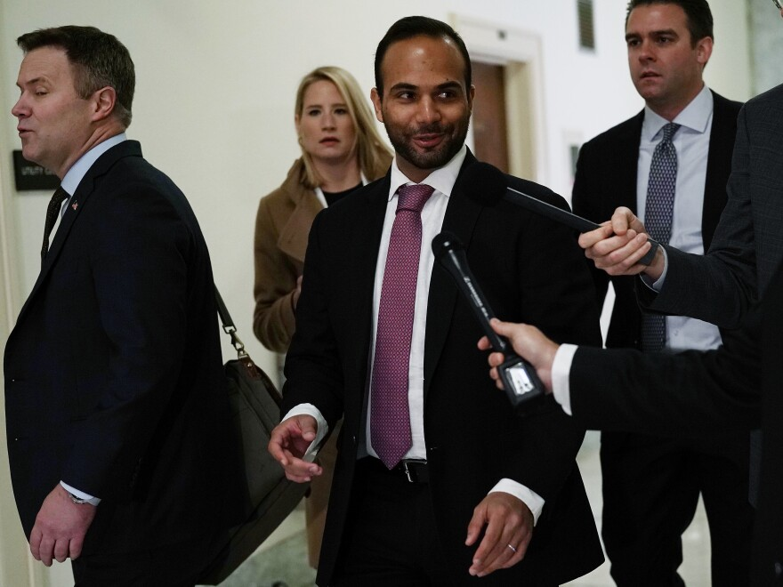 George Papadopoulos arrives at a hearing before the House Judiciary and Oversight Committee Oct. 25, 2018.