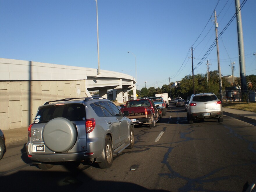 Traffic on Hwy 183 N frontage, October 30, 2010