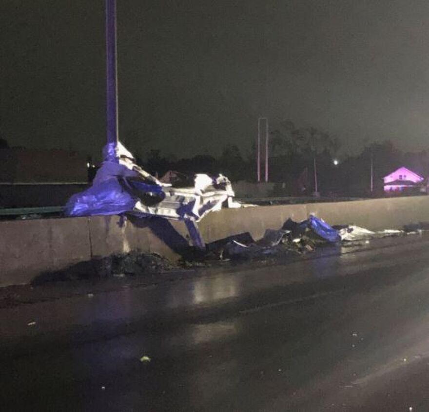 Tornado debris on I-75