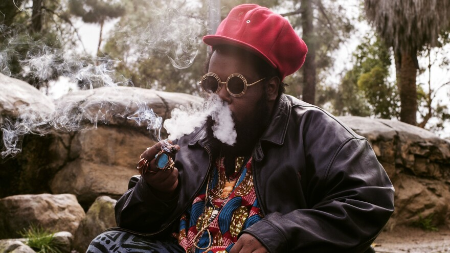 Ras G, photographed on Jan. 10, 2017 in Los Angeles. The respected musician died at home there on July 29, at the age of 40.