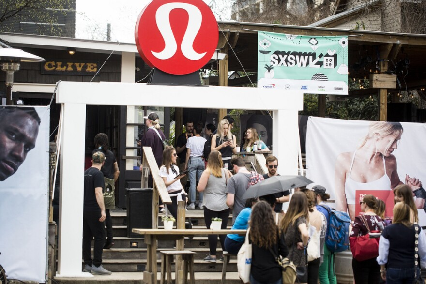 """The workout apparel retailer Lululemon """"took over"""" Clive Bar on Rainey Street last week and turned it into a meditation spot for SXSW festivalgoers."""