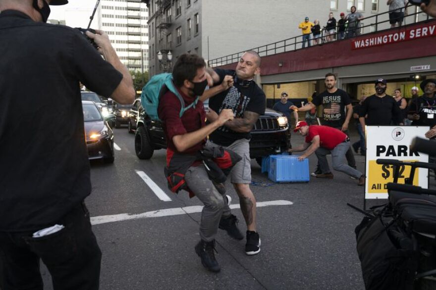 Trump guy punches protester - Levinson OPB.jpg