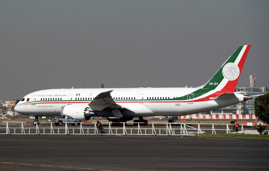 Mexico's presidential airplane, a Boeing 787 Dreamliner, has returned home after spending a year in a hangar in Victorville, Calif.