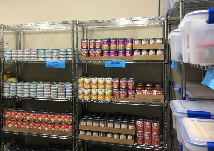St. Philip's College recently added a food pantry to its student resource center Safe Space.