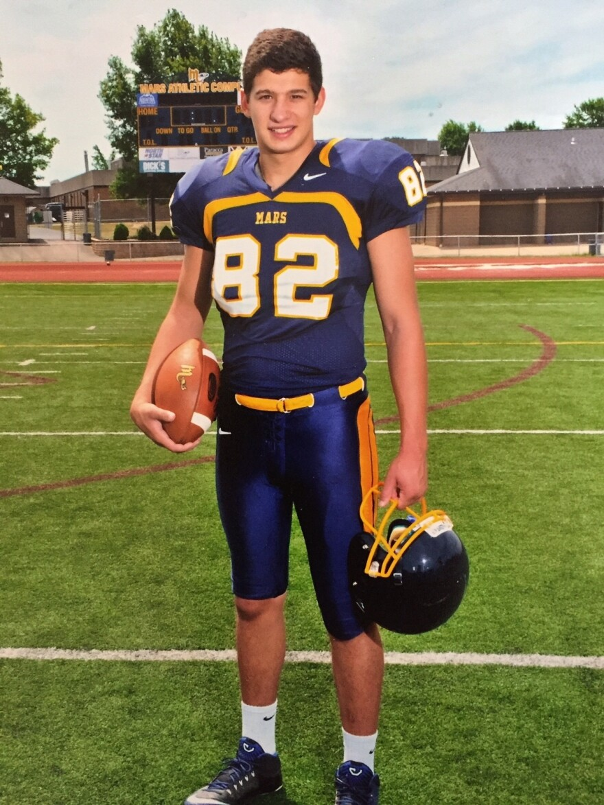 John Castello decided to stop playing football when he learned about the risks of brain injury.