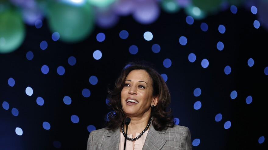 Sen. Kamala Harris speaks at the Alpha Kappa Alpha South Central Regional Conference in New Orleans in April 2019.