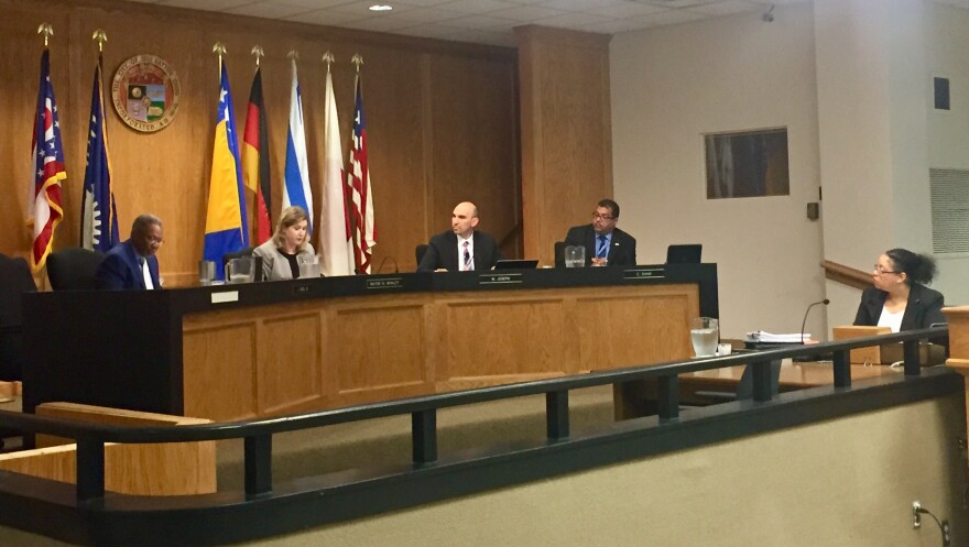 Dayton City Commissioners Wednesday voted to approve an ordinance banning panhandling along several busy roadways within city limits