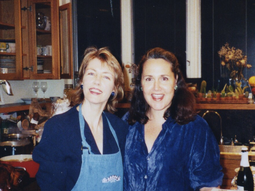 Pamela Hogan (left), director and producer of the documentary, with her friend Laury Sacks in 2000.