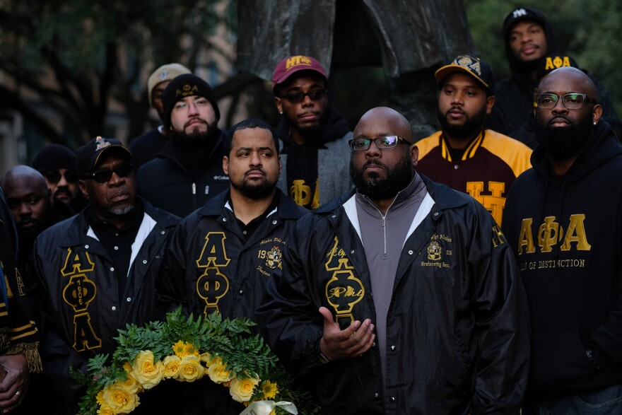 Members of the Alpha Phi Alpha fraternity