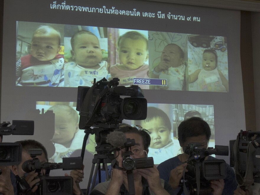 Bangkok's Central Juvenile and Family Court on Tuesday gave Mitsutoki Shigeta sole legal custody of the children he fathered (pictured above) using Thai surrogate mothers, ruling that he's financially stable and showed his plans to care for them. (AP Photo/Sakchai Lalit, File)
