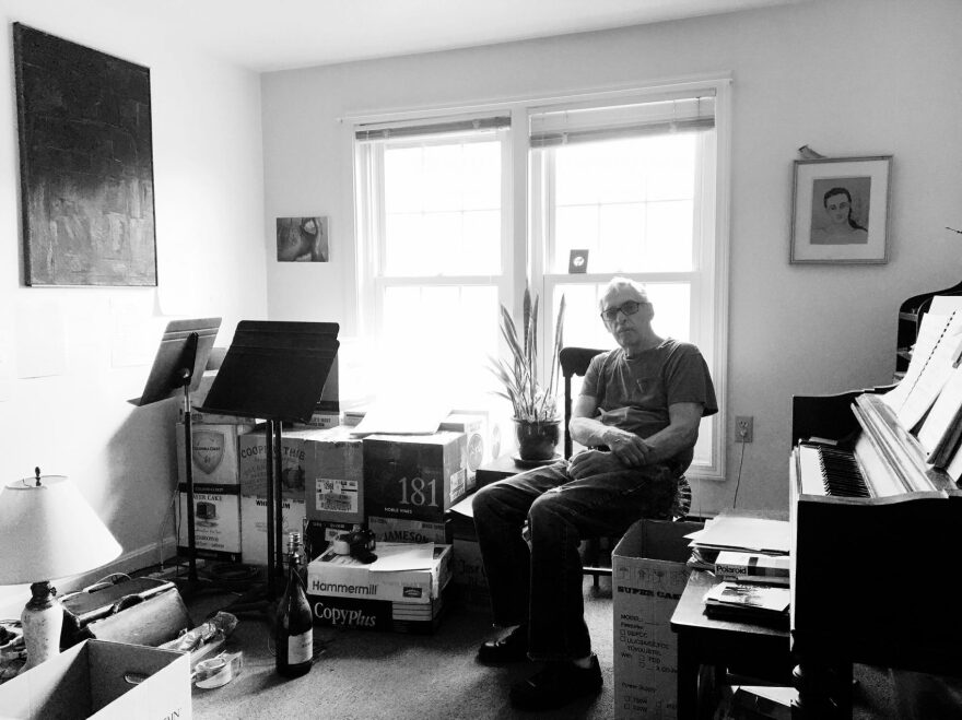 """Richard Alan White, in his Milford, N.H., apartment, where he completed his opera """"Hester."""" (Courtesy Rebecca White)"""