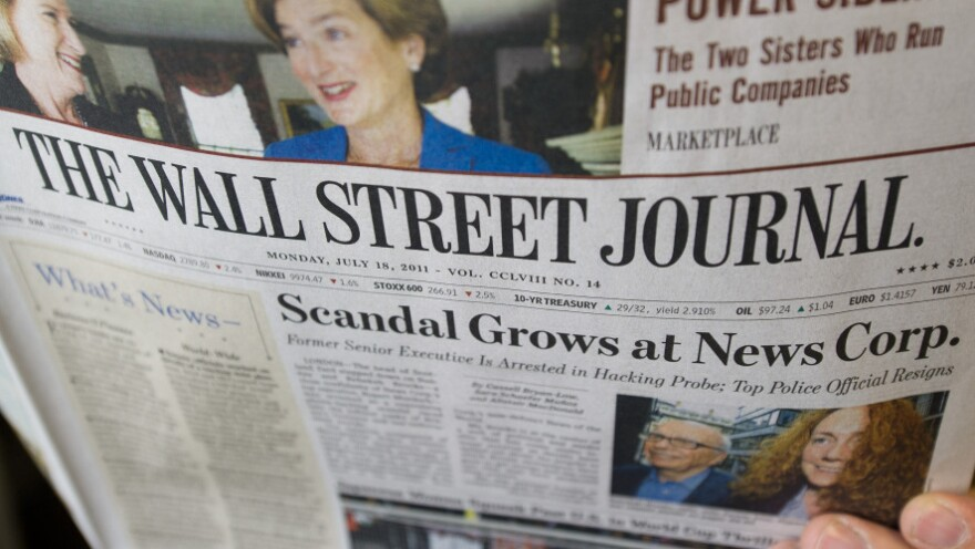 The News Corp.-owned <em>Wall Street Journal</em> blasted critics  for double standards and insisted that the phone-tapping scandal in Britain should not tarnish all of Rupert Murdoch's media empire.