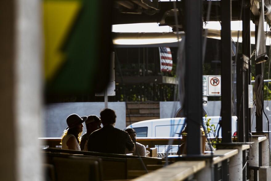 A bar on Sixth Street in Austin.