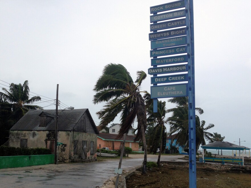 The sky is overcast on south Eleuthera island, Bahamas, early Friday, as Hurricane Joaquin dumps torrential rain across the eastern and central Bahamas as a Category 4 storm.