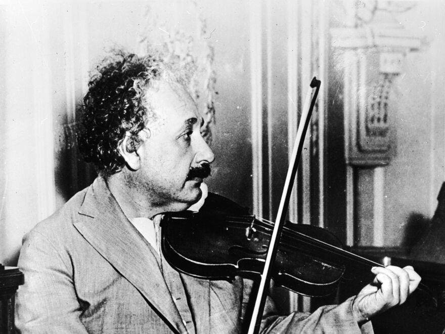 Albert Einstein, seen playing the violin in the music room of the S.S. Belgenland, had knoblike structures on the part of the brain that controls motion of the right hand. Brain scans of modern musicians show similar structures.