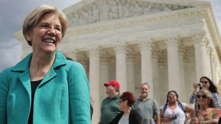 "Massachusetts Sen. Elizabeth Warren, a progressive favorite, endorsed Hillary Clinton for president Thursday evening on MSNBC's ""The Rachel Maddow Show."""