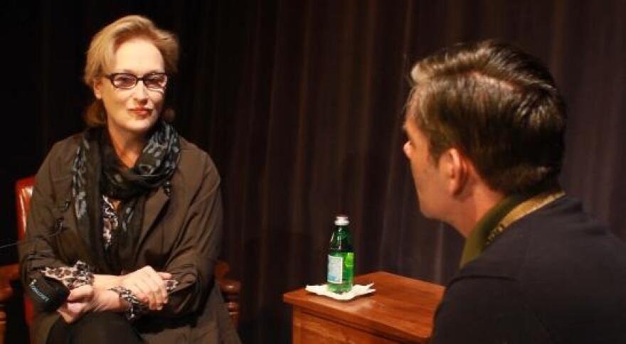 Meryl Streep visited the UT campus Friday.