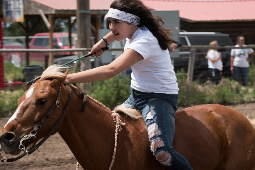 Photo of young rider.